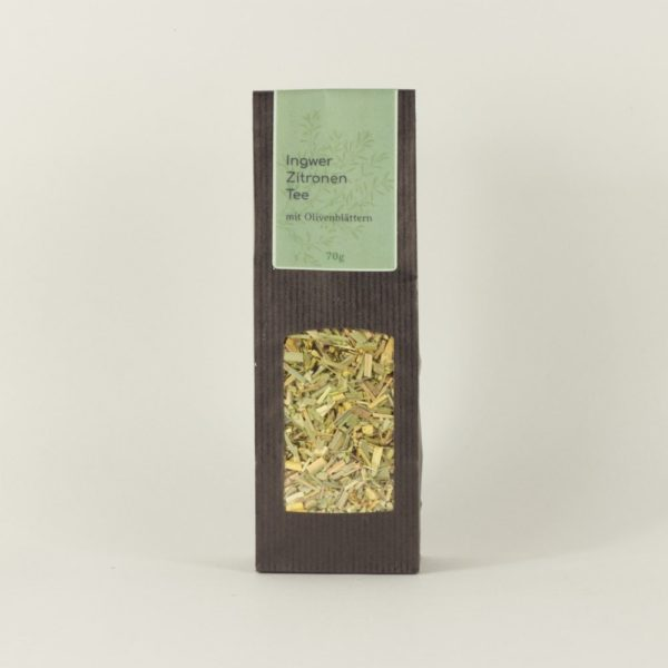 Ingwer-Zitrone-Tee-mit-Olivenblättern